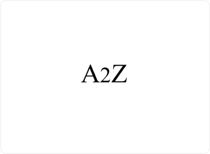A2Z logo block